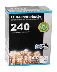 LED Lichterkette 240er warmweiss